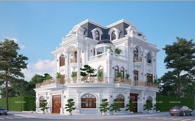 Hình ảnh của Mẫu Biệt thự Tân cổ điển 3 tầng đẹp sang trọng và tinh tế tại thành phố Bắc Giang